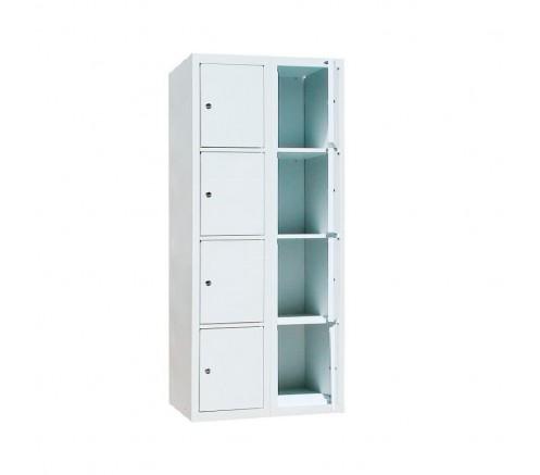 Шкаф для чистой одежды на 8 ячеек с механическими замками (800х450х1820) фото