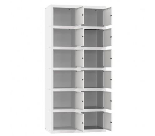 Шкаф для чистой одежды 12  ячеек с механическими замками (800х450х1820) фото