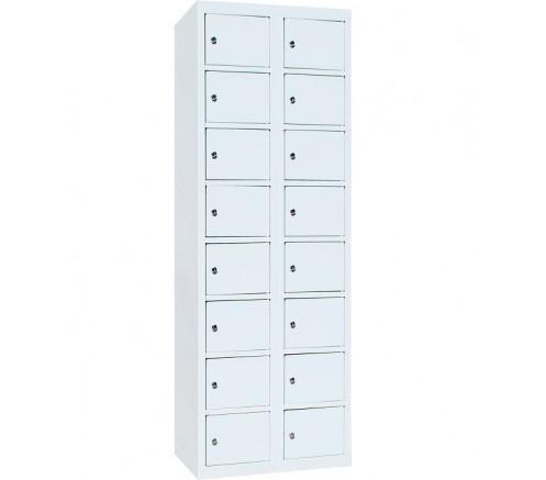Шкаф для чистой одежды 16  ячеек с механическими замками (800х450х1820) фото