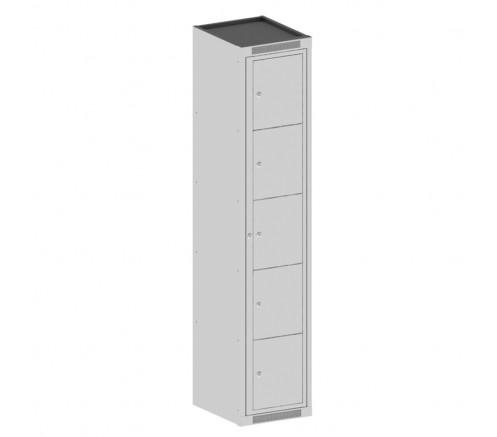 Шкаф для чистой одежды на 5 ячеек с механическими замками (380х450х1820) фото