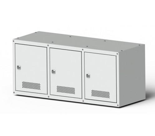 Шкаф для хранения СИЗ 3 ячейки (800х350х300) фото