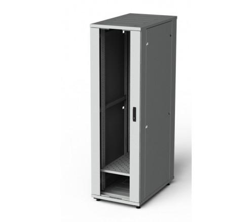 Шкаф напольный серверный 27U 600x600, дверь стекло фото