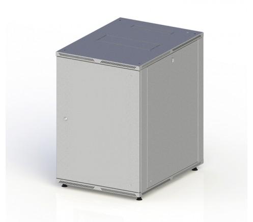Шкаф телекоммуникационный настенный 10U (600x600) дверь металл фото