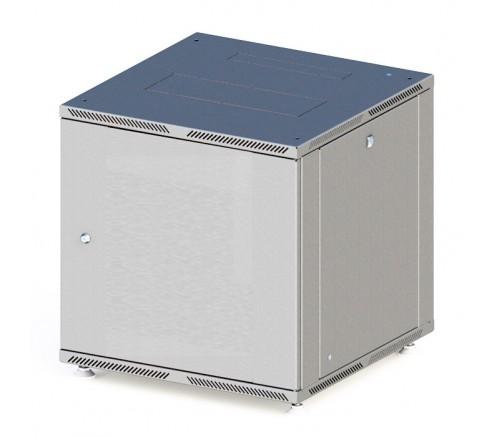 Шкаф телекоммуникационный настенный 6U (600x350) дверь металл фото