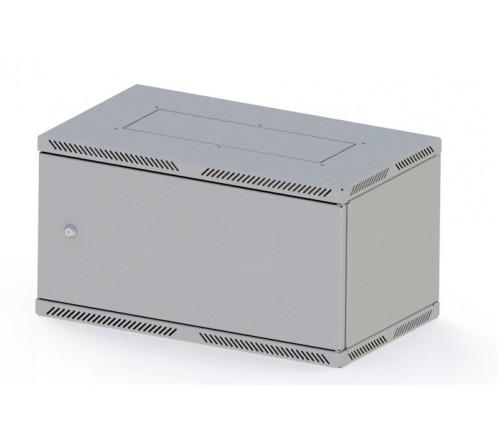 """Шкаф 19"""" настенный Lite 6U (600x450) дверь металл фото"""