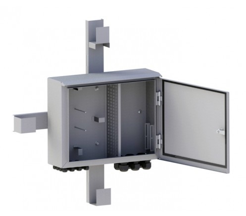Шкаф оптический распределительный PON на 64 абонентских порта IP54 фото