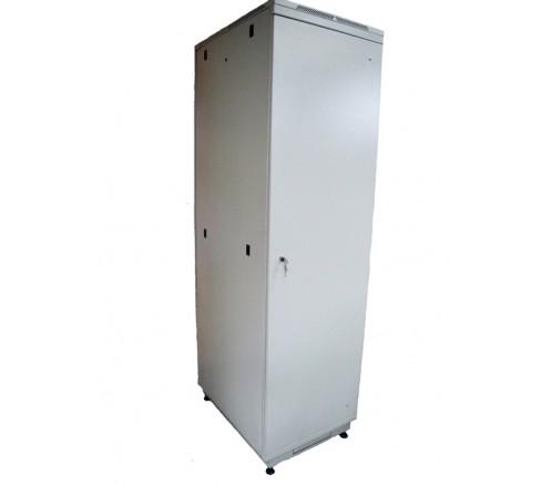 Шкаф телекоммуникационный напольный 42U (600x800) дверь металл фото