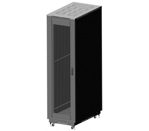 Шкаф телекоммуникационный напольный 42U (800x1000) дверь перфорированная фото