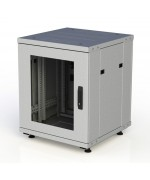 Шкаф напольный серверный 18U 600x600, дверь стекло