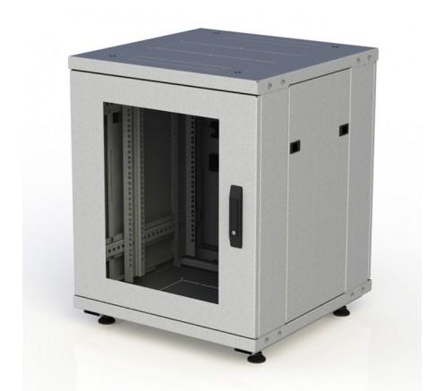 Шкаф напольный серверный 24U 600x600, дверь стекло фото