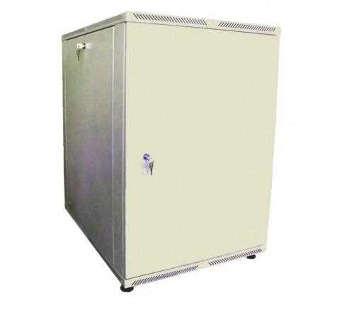 Шкаф телекоммуникационный настенный 18U (600x450) дверь металл фото
