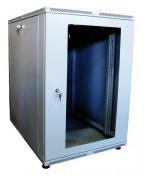 Шкаф телекоммуникационный настенный 18U (600x450) дверь стекло