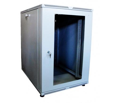 Шкаф телекоммуникационный настенный 15U (600x600) дверь стекло фото