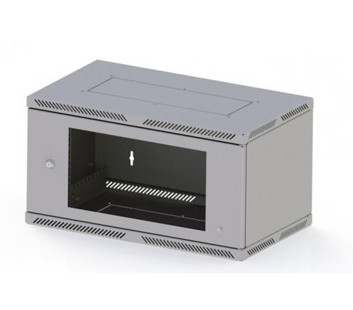 Шкаф телекоммуникационный настенный 6U (600x350) Lite дверь стекло фото