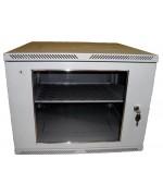 Шкаф телекоммуникационный настенный 6U (600x450) дверь стекло