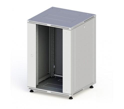 Шкаф телекоммуникационный настенный 15U (600x520) дверь стекло фото