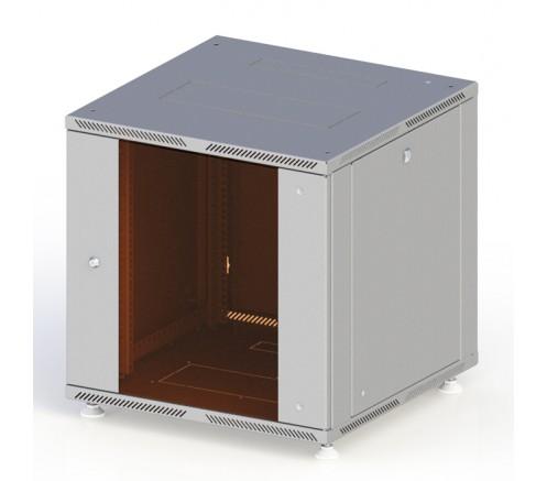 Шкаф телекоммуникационный настенный 12U (600x450) дверь стекло фото