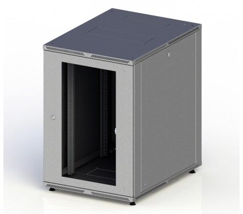 Шкаф телекоммуникационный напольный LITE 18U (600x800) дверь стекло фото