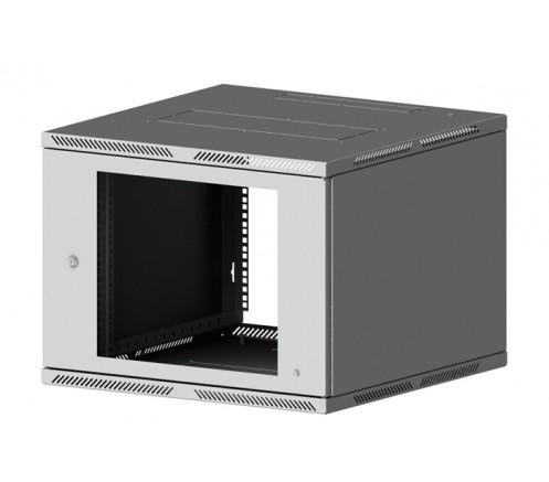 Шкаф телекоммуникационный настенный 9U (600x600) Lite дверь стекло фото