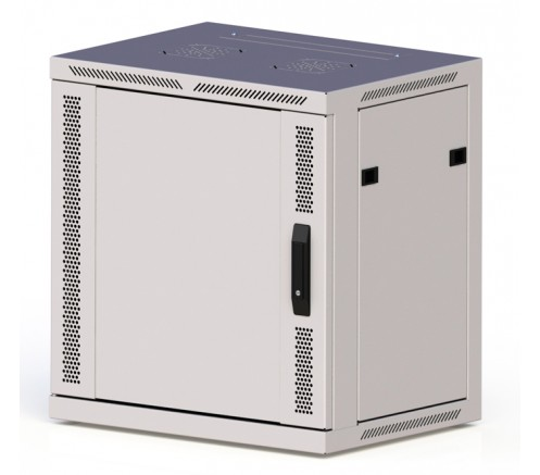 "Шкаф 19"" настенный 9U ПРЕМИУМ (600х350х501) дверь металл фото"