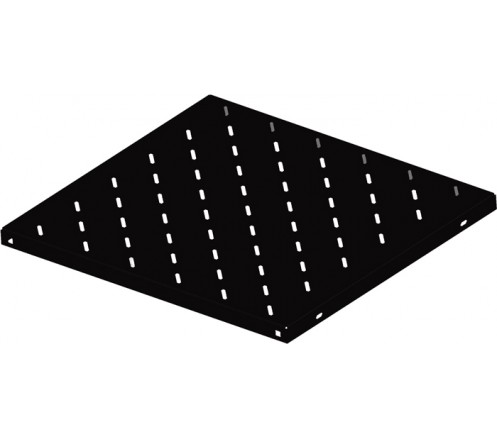 """Полка перфорированная стационарная 19"""" 1U глубина 550мм, черный фото"""