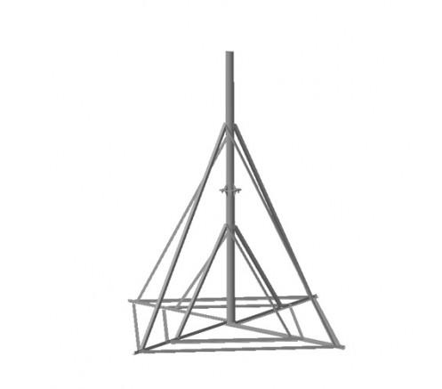 Опора на плоскую поверхность для антенны 1,8м  (ОПП-1,8-114КР-02) фото